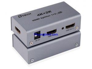 Bộ chia HDMI 1 ra 2 cổng hỗ trợ 4K-2K chính hãng Dtech DT-7142