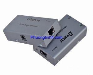 Kéo dài cáp HDMI 60m bằng cáp mạng lan, Dtech DT-7009