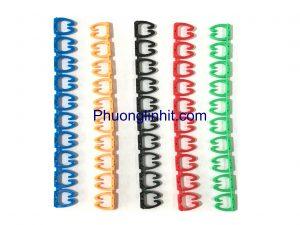 Vòng đánh số dây mạng cat6, Vỉ giấy 100 Số loại kẹp