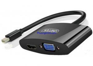 Cáp Mini DisplayPort to VGA + HDMI Unitek Y-6328BK chính hãng