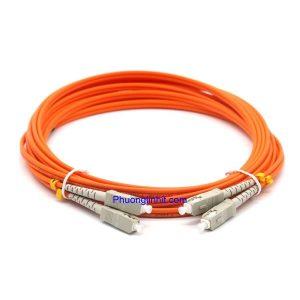 Dây nhảy quang SC-SC/UPC Multi-mode OM2 3.0mm Sợi đôi 1,5m.