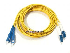 Dây nhảy quang SC-LC/UPC Single-mode 3.0mm Sợi đôi 1,5m.