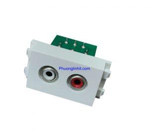 Hạt ổ cắm Audio jack AV, chuẩn Wide lắp mặt Panasonic