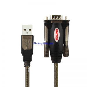 Cáp USB to COM RS232 Unitek Y-105 chính hãng dài 1.5m