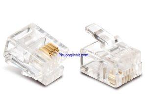 Hạt điện thoại Rj11, bấm dây line điện thoại 4 Pin loại tốt