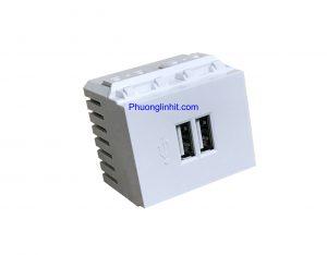 Ổ cắm USB ra 2 cổng sạc usb 5v dùng cho điện thoại, lắp mặt Panasonic