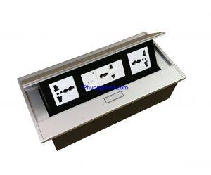 ổ cắm sạc điện 5v USB và ổ 3 chấu âm bàn hãng Sinoamigo STS-215