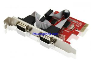 Card PCI-E sang 2 Port RS232 (COM 9) Unitek Y-7504 Chính hãng