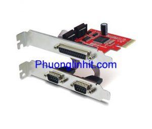 Card PCI Express to COM RS232 + LPT DB25 chân Unitek Y-7508 Chính hãng