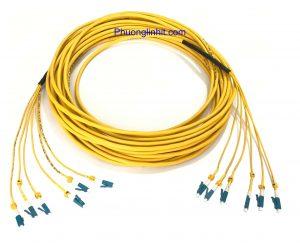 Dây patch cord quang Single mode LC-LC/UPC đa sợi 6FO dài 10m