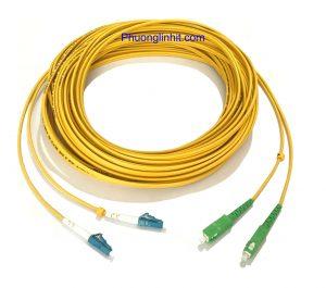 Dây patch cord quang Single-mode SC/APC – LC/UPC Sợi đôi 3m