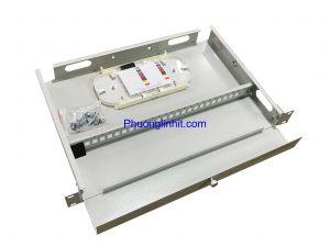 Vỏ hộp phối quang ODF 24FO khay cố định lắp tủ rack, không phụ kiện