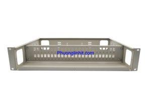 Vỏ hộp phối quang ODF 48FO khay cố định lắp tủ rack, không phụ kiện