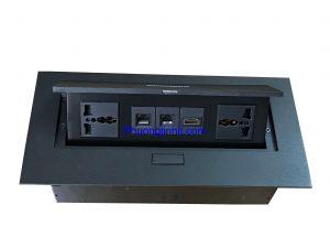 Ổ cắm âm bàn Sino Amigo STS-212 ( 2 ổ 3 chấu + ổ Thoại và Mạng cat5, HDMI) chính hãng