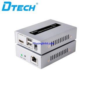 Thiết bị nối dài HDMI + USB KVM qua dây mạng LAN 100m chính hãng Dtech DT-7054A