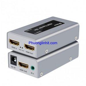 Bộ khuếch đại HDMI to LAN 60m EXTENDER – WITH IR chính hãng Dtech DT-7009I