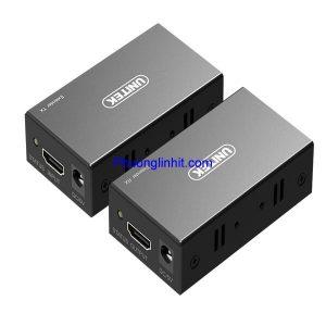 Bộ kéo dài HDMI qua cáp LAN 60m chính hãng Unitek V100A