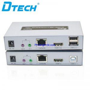 Bộ khuếch đại HDMI + USB qua mạng LAN 100m chính hãng Dtech DT-7051
