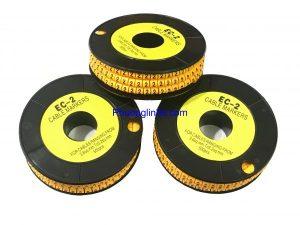 Đánh dấu dây mạng Cat5e, Lô 10 cuộn loại luồn dây dùng cho dây mạng Cat5e
