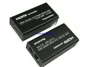 Bộ khuếch đại cáp HDMI 60m qua cáp mạng LAN chính hãng FJGEAR (FJ-HEA60)