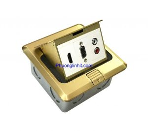 Ổ cắm âm sàn VGA, HDMI và Audio chính hãng Sinoamigo SPU-1B