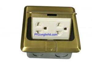 ổ cắm điện âm sàn hãng Sinoamigo SPU-1B gồm 2 ổ 3 chấu chuẩn Mỹ