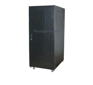 Tủ mạng, tủ Rack 32U D600 hàng cao cấp, có quạt và ổ cắm đi kèm