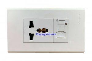 Ổ cắm điện 3 chấu âm tường và cổng sạc USB 5V, dùng mặt Panasonic