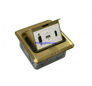 ổ cắm âm sàn hãng Sinoamigo SPU-1B gồm VGA, USB và HDMI