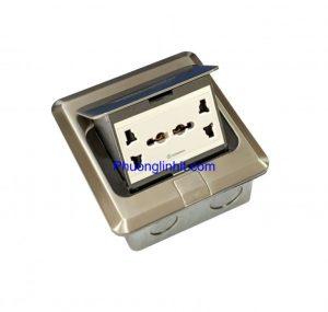 Bộ ổ cắm điện đa năng âm sàn Sino Amigo SPU-1Se mầu bạc chính hãng
