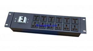 Thanh nguồn PDU đa năng 12 ổ cắm 3 chấu chuẩn 19″ dùng cho tủ rack