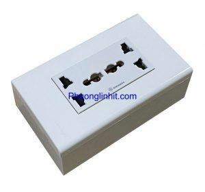 Ổ cắm điện 3 chấu chuẩn Anh, Úc, Mỹ phù hợp mọi loại phích cắm