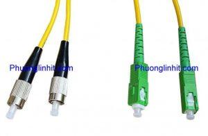 Dây nhảy quang Single mode SC/APC-FC/UPC Duplex dài 1,5 mét