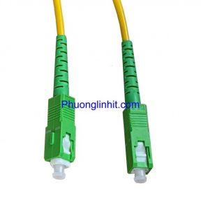 Dây nhảy quang single-mode SC/APC-SC/APC Simplex dài 1,5 mét