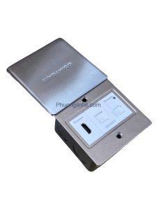 Bộ ổ cắm đa năng âm sàn nắp trượt Sino Amigo SHP-M1S gồm HDMI/Lan/USB sạc 5v
