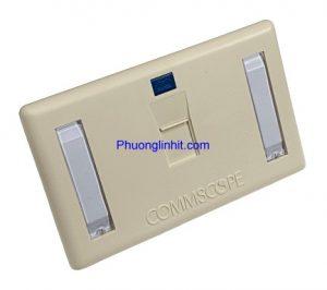 Bộ ổ cắm điện thoại Rj11 Cat3 âm tường hãng Commscope AMP