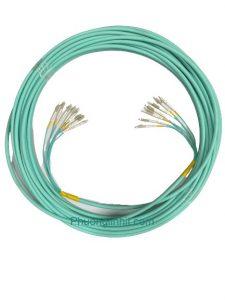 Dây nhảy quang Multimode OM3 chuẩn LC-LC/UPC đa sợi 8FO dài 30m