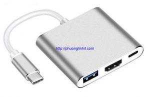 Cáp chuyển đổi USB Type-C sang HDMI, USB 3.0 và USB Type-C