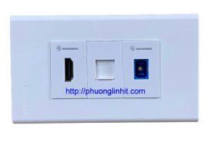 ổ cắm HDMI, Lan cat6 và cổng quang chuẩn SC âm tường mặt Panasonic