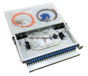 Phân phối quang 24FO chuẩn SC khay trượt lắp rack bao gồm phụ kiện