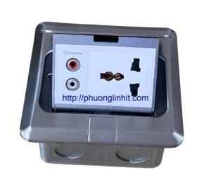Ổ cắm điện 3 chấu và cổng cắm Audio âm sàn, bàn Sinoamigo SPU-1SE