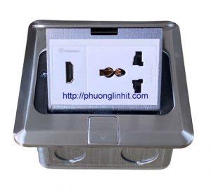 Hộp ổ cắm HDMI, điện 3 chấu âm sàn, bàn Sinoamigo SPU-1SE